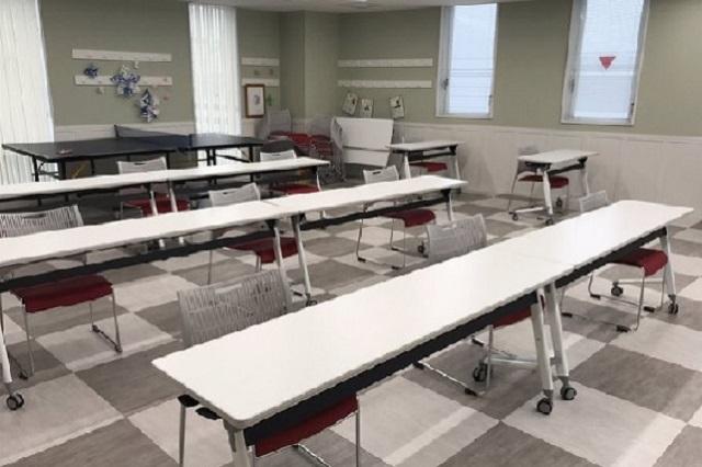 明るくきれいな教室で心地よく過ごせます!