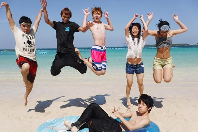 1年次の沖縄スクーリング!友達が増えます!