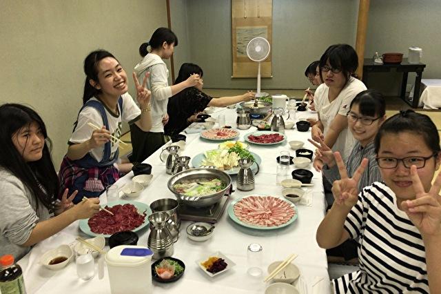 夏合宿。名物夜のお鍋パーティ